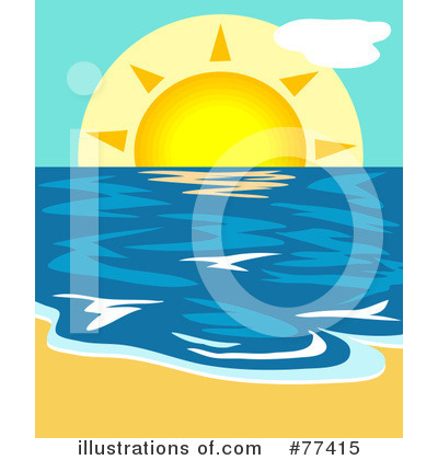 Royalty-Free (RF) Beach Clipart Illustration by Prawny - Stock Sample #77415