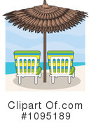 Royalty-Free (RF) Beach Umbrella Clipart Illustration #1095189