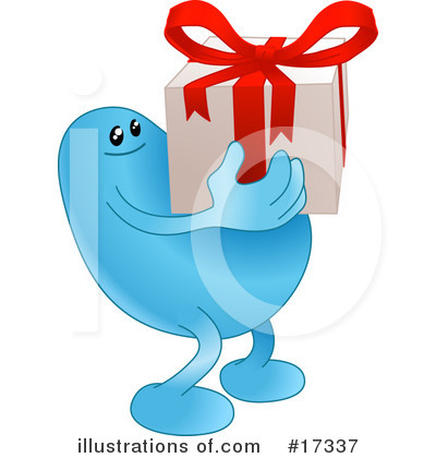 Gift Clipart #17337 by AtStockIllustration