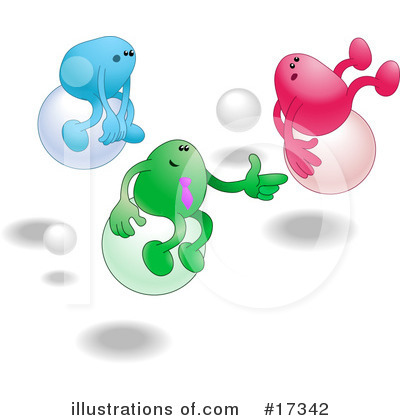Balloons Clipart #17342 by AtStockIllustration
