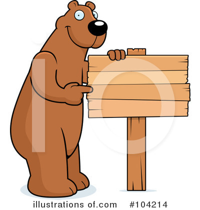 Bear Clipart #104214 by Cory Thoman