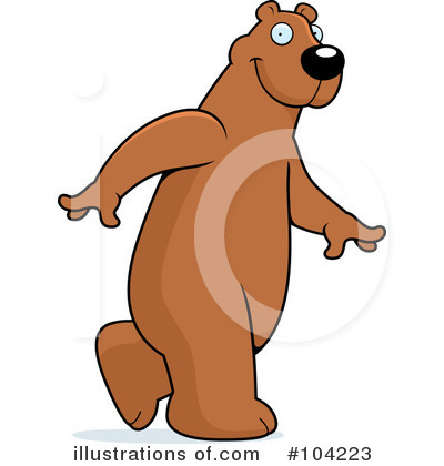 Bear Clipart #104223 by Cory Thoman