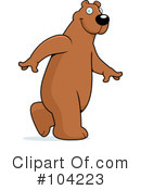 Royalty-Free (RF) bear Clipart Illustration #104223