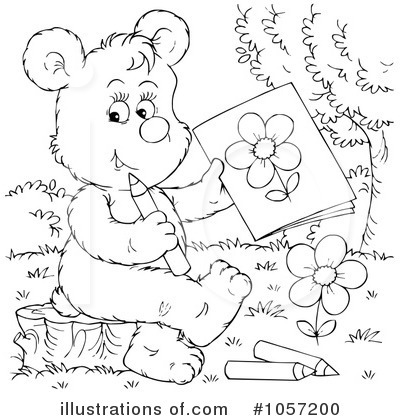 Royalty-Free (RF) Bear Clipart Illustration by Alex Bannykh - Stock Sample #1057200