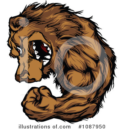 Royalty-Free (RF) Bear Clipart Illustration by Chromaco - Stock Sample #1087950
