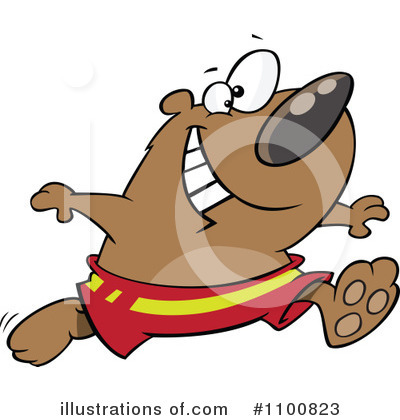 Royalty-Free (RF) Bear Clipart Illustration by toonaday - Stock Sample #1100823