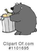 Royalty-Free (RF) Bear Clipart Illustration #1101695