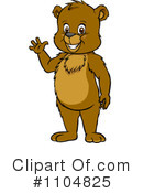 Royalty-Free (RF) bear Clipart Illustration #1104825