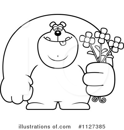 Giving Flowers Clipart #1127385 by Cory Thoman