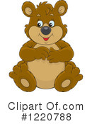 Royalty-Free (RF) Bear Clipart Illustration #1220788