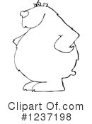 Royalty-Free (RF) Bear Clipart Illustration #1237198