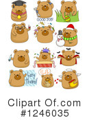 Royalty-Free (RF) Bear Clipart Illustration #1246035