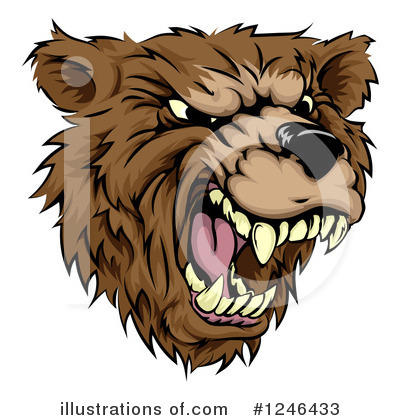 Royalty-Free (RF) Bear Clipart Illustration by AtStockIllustration - Stock Sample #1246433