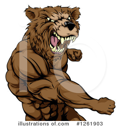 Bear Clipart #1261903 by AtStockIllustration