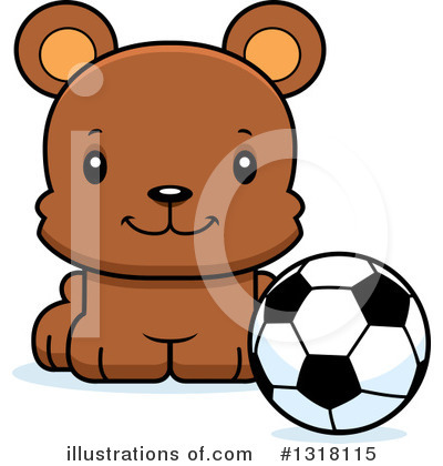 Football Clipart #1318115 by Cory Thoman