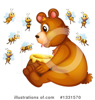 Bee Clipart #1331570 by Graphics RF
