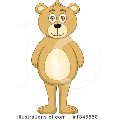 Royalty-Free (RF) Bear Clipart Illustration by Liron Peer - Stock Sample #1345558
