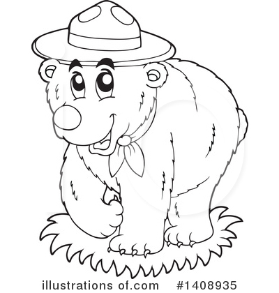 Bear Clipart #1408935 by visekart