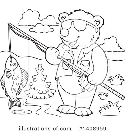 Fishing Clipart #1408959 by visekart