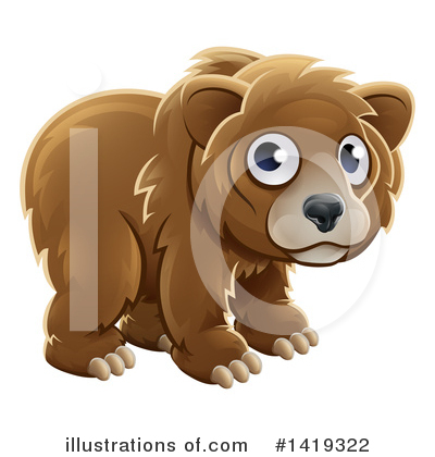 Bear Clipart #1419322 by AtStockIllustration