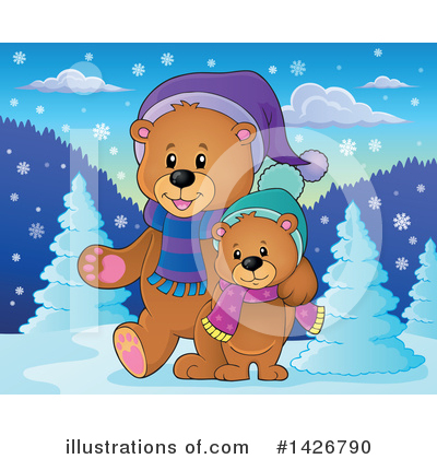 Bear Clipart #1426790 by visekart