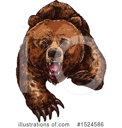Bear Clipart #1524586 by Vector Tradition SM