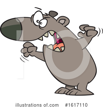 Royalty-Free (RF) Bear Clipart Illustration by toonaday - Stock Sample #1617110
