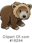 Royalty-Free (RF) bear Clipart Illustration #16294