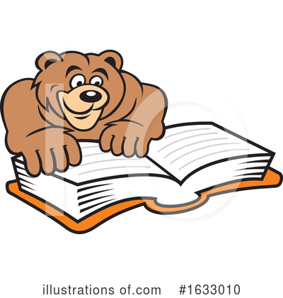 Reading Clipart #1633010 by Johnny Sajem
