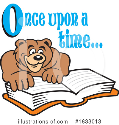 Reading Clipart #1633013 by Johnny Sajem