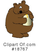Royalty-Free (RF) Bear Clipart Illustration #18767