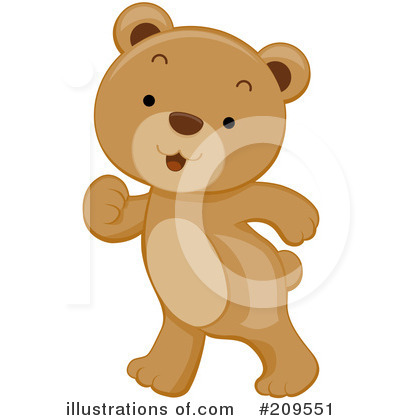 Royalty-Free (RF) Bear Clipart Illustration by BNP Design Studio - Stock Sample #209551