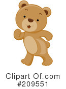 Royalty-Free (RF) Bear Clipart Illustration #209551