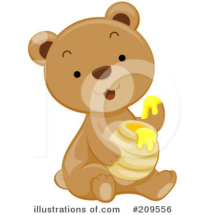 Royalty-Free (RF) Bear Clipart Illustration by BNP Design Studio - Stock Sample #209556