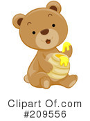Royalty-Free (RF) Bear Clipart Illustration #209556