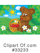Royalty-Free (RF) Bear Clipart Illustration #33233