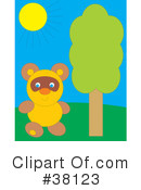 Royalty-Free (RF) Bear Clipart Illustration #38123