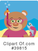 Royalty-Free (RF) bear Clipart Illustration #39815