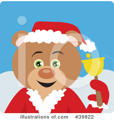Royalty-Free (RF) Bear Clipart Illustration by Dennis Holmes Designs - Stock Sample #39822