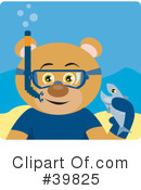 Royalty-Free (RF) bear Clipart Illustration #39825