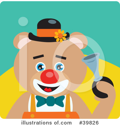 Royalty-Free (RF) Bear Clipart Illustration by Dennis Holmes Designs - Stock Sample #39826