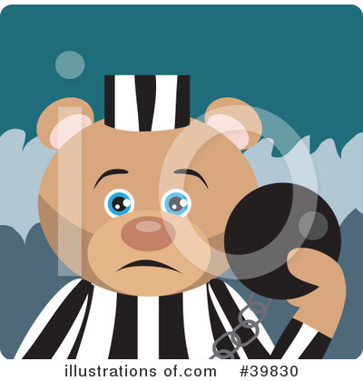 Royalty-Free (RF) Bear Clipart Illustration by Dennis Holmes Designs - Stock Sample #39830