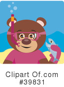 Royalty-Free (RF) bear Clipart Illustration #39831