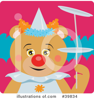 Royalty-Free (RF) Bear Clipart Illustration by Dennis Holmes Designs - Stock Sample #39834