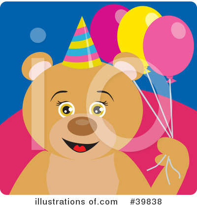 Royalty-Free (RF) Bear Clipart Illustration by Dennis Holmes Designs - Stock Sample #39838