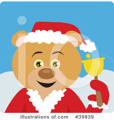 Royalty-Free (RF) Bear Clipart Illustration by Dennis Holmes Designs - Stock Sample #39839