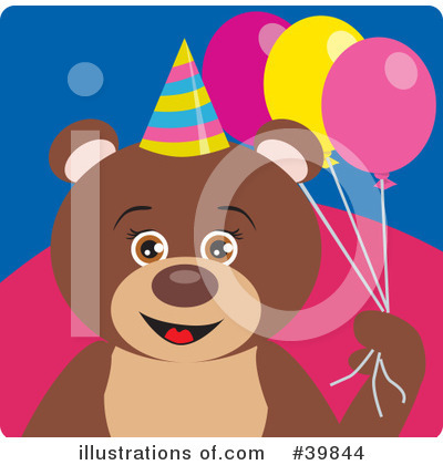 Royalty-Free (RF) Bear Clipart Illustration by Dennis Holmes Designs - Stock Sample #39844
