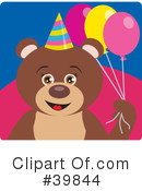 Bear Clipart #39844 by Dennis Holmes Designs