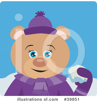 Royalty-Free (RF) Bear Clipart Illustration by Dennis Holmes Designs - Stock Sample #39851