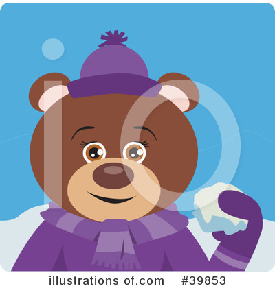 Royalty-Free (RF) Bear Clipart Illustration by Dennis Holmes Designs - Stock Sample #39853